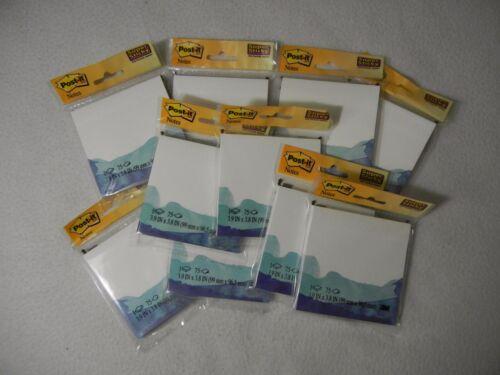 10 pkg Post It Notes 4 x 4 Pad Bora Bora Watercolor Design Style V8014