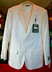 Men-s-Linage-White-Suit-Jacket-Size-36R-Pants-30W-NWT