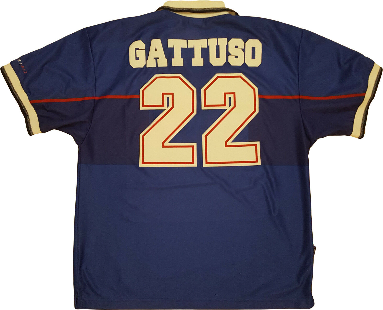 Maglia Gattuso vintage Rangers Glasgow Shirt Maillot Trikot 1997-98 Jersey