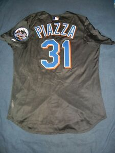 big sale 3265f 5f733 Details about MIKE PIAZZA AUTHENTIC Majestic NEW YORK METS Batting Practice  Jersey 46 Dodgers