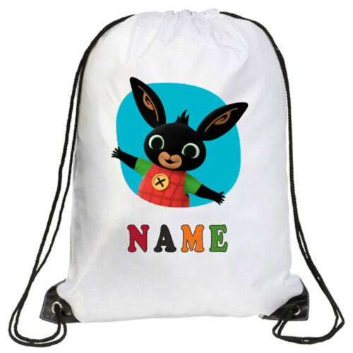 School PE School Gymsac 3126+Personalised Kids Bing Drawstring Bag Swimming