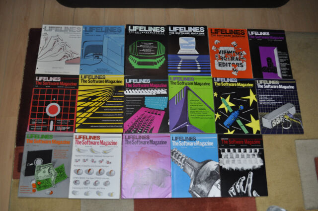 LIFELINES, the first Software Magazin, 17 Editions from 10/1981 up to 02/1983 !!