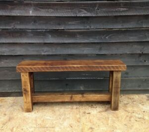 Awesome Details About Wooden Bench A Solid Rustic Bench Handmade From Vintage Reclaimed Timber Onthecornerstone Fun Painted Chair Ideas Images Onthecornerstoneorg