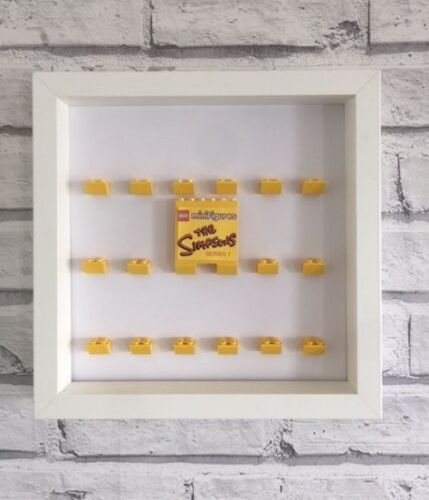 Mini Figures White Display Case Frame Yellow Lego Brick    The Simpsons Series 1