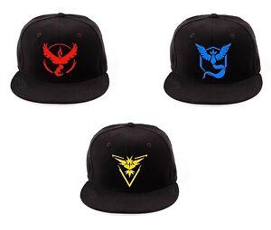 USA SELLER Pokemon Go Snapback Baseball Hat Team Mystic Instinct ... e5a02d4d4af3