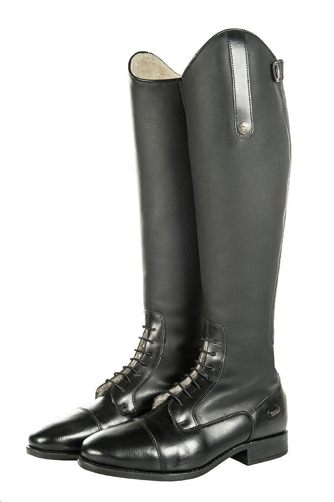 HKM botas de Montar longitud estándar de Peluche Sevilla todas las tallas Negro Elástico Pantorrilla
