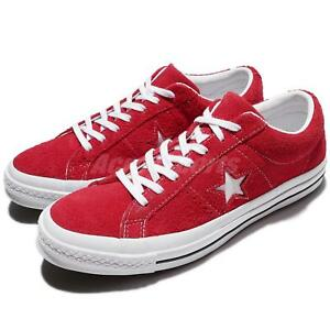Converse One Star Suede Red White Men Women Skateboarding Shoes ... 08d857bded27