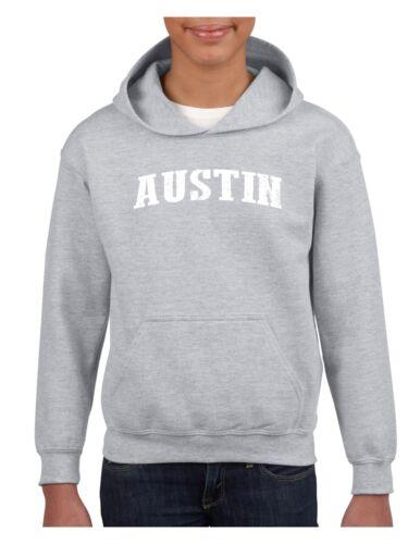Austin TX Texas Flag Houston Map Longhorns Bobcats Home Youth/&Kids Hoodie