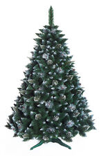 Christmas Tree Luxury Traditional 3 sizes - Snow covered Pine with crystals