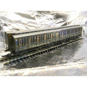 Roco-64014-DRG-2-x-Coupled-6-Wheel-Coaches-3rd-Class-DRG-Green-1-87-H0-Scale