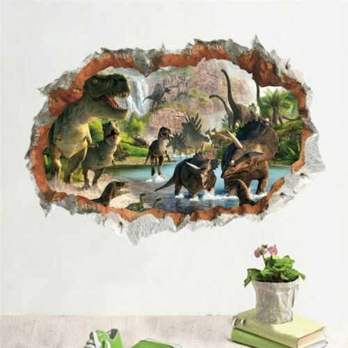 3D dinosaur Jurassic Removable Wall Stickers Decal Kids bed room Home Decor USA