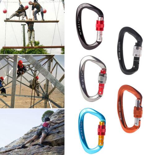 25kN Carabiner Buckle Aluminum Alloy Hook Outdoor Climbing Camping Survival Tool