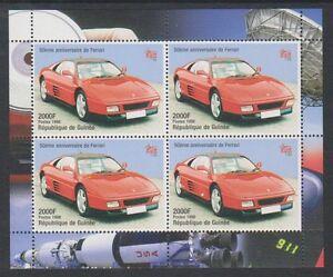 Guinea - 1998, 50th Anniversary of Ferrari sheet - MNH