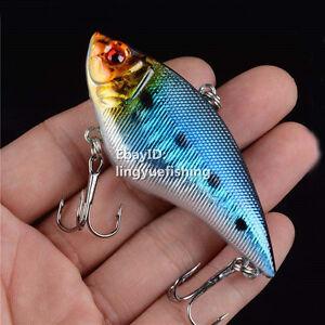 1PCS Hard Metal VIB Fishing Tackle Crankbait Bait Lure Treble Hooks 7CM/17G New