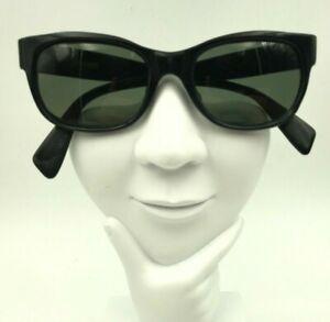 Vintage-Errebi-Black-Oval-Horn-Rimmed-Sunglasses-Eyeglasses-Frames