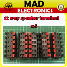 5 Lot x 12 Way Speaker Terminal Push Connection Spring Level Red&Black