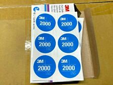 Box of 10 Sheets 3M 33895 32 mm Paint Defect Removal Abrasive 2000 Circle