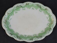 VTG Signed Johnson Brothers Mikado Porcelain Gold Gilt Sml Oval Serving Platter