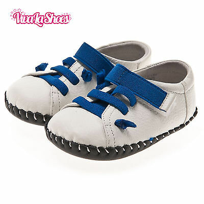 Boys Toddler - REAL Leather Soft Sole Baby Shoes - Felix Blue