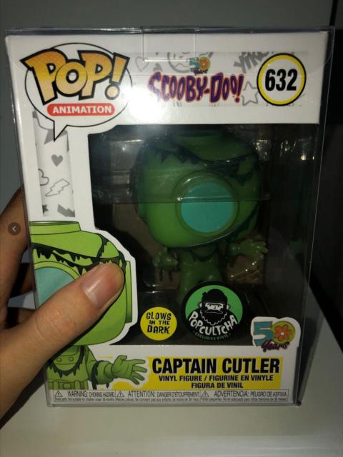 """Funko Pop!Captain cutler #632 Glow in the Dark Rare Exclusive """"Sticker Label Box"""