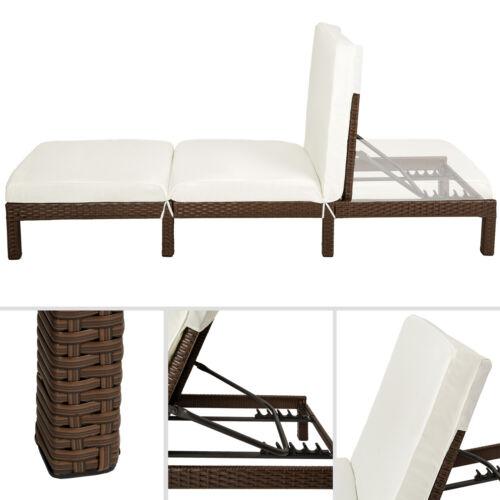 Cama de día de ratán silla Tumbona Reclinable Jardín Muebles de terraza patio Nuevo