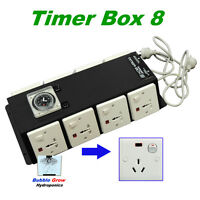Timer Box 8 With 8 Outputs 8x600w Industrial Hydroponics For Grow Tent Fan Room