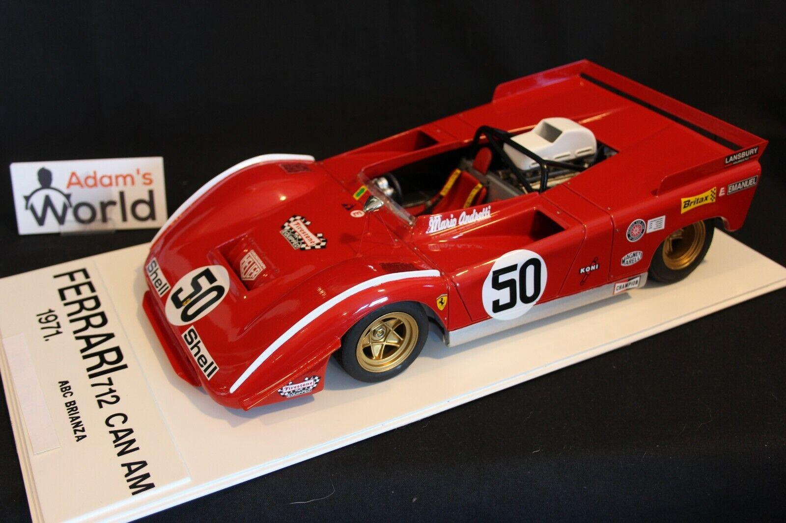 ABC Brianza (inbyggt kit hkonsts) Ferrari 712M Kan Am 1971 1 12 Andretti (PJBB)
