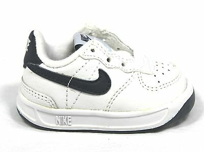 Nike Lil Ace 83 formadores 302402 141 Cuero Blanco Tenis Junior infants BNIB
