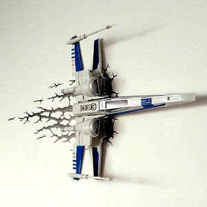 new 3d fx led deco night light star wars x wing alliance home wall decoration. Black Bedroom Furniture Sets. Home Design Ideas
