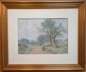 Bury-St-Edmonds-Suffolk-Watercolour-by-listed-artist-David-Robertson-c1920