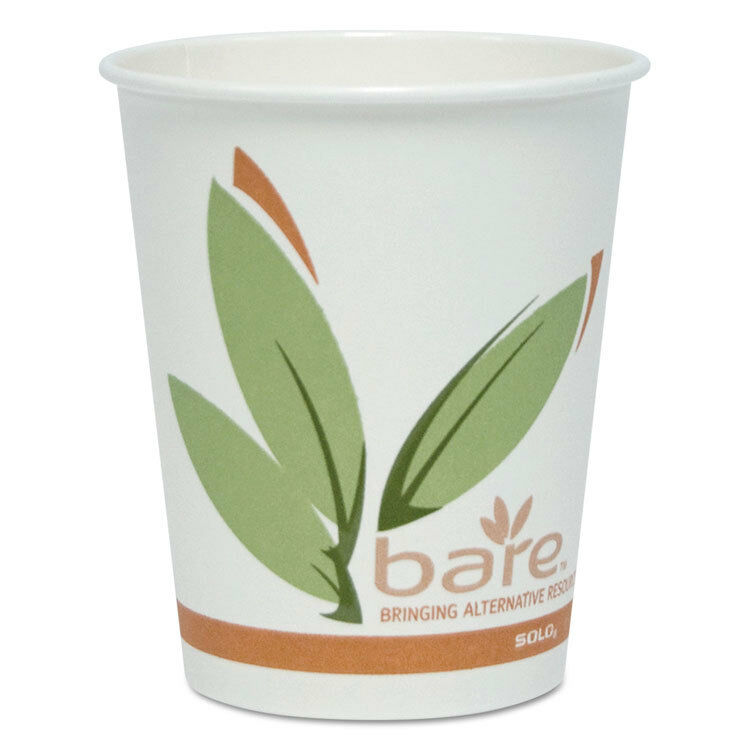 Bare by Solo Eco-Forward Recycled Content PCF Hot Cups, Paper, 10 oz, 300 Carton