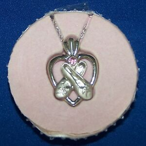 Ballerina-039-s-Shoes-Necklace-in-a-Jewelry-Box-Case