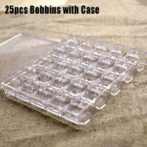 25Pcs-machine-a-coudre-Bobines-de-Fil-Vide-Bobines-Transparent-Stockage-Case