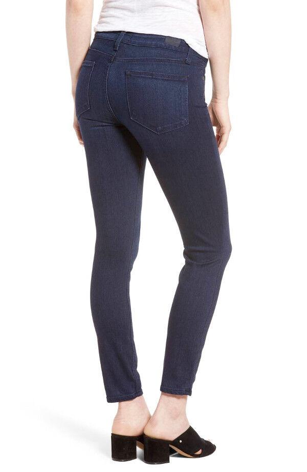 NWT PAIGE Denim Verdugo Ankle MidRise Ultra Skinny Jeans Size 30 Bryce Dark bluee