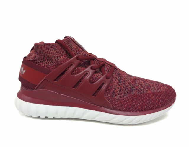 Adidas Originals Men's TUBULAR NOVA PRIMEKNIT Shoes Mystery Red BB8406 b