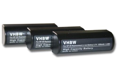 original VHBW ® batería 1200mah para Fuji Fujifilm finepix mx-4800//mx-4900 3st