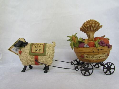 Betty Padden  Sheep /& Harvest Wagon Resin Figurine Blossom Bucket 82906 NEW