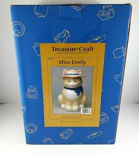 Treasure-Craft-Sculpted-Cookie-Jar-Miss-Emily-The-Cat-New
