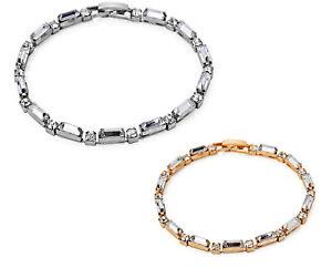 Damen-Armband-Kristall-Ketten-Tennis-Strass-Reif-Statement-Modisch-Trendy-Hand