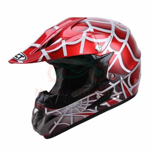 DOT Youth Helmet Child Kids Motorcycle Full Face Spiderman Offroad Dirt Bike New