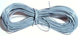 Model Railway/Railro<wbr/>ad Layout/Point Motor etc Wire 1x25m Roll 7/0.2mm 1.4A Grey
