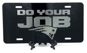 New-England-Patriots-YOUR-JOB-Logo-Tag-Diamond-Etched-on-Aluminum-License-Plate