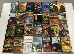 Lot-of-10-RANDOM-Science-Fiction-Sci-Fi-Books-Paperback-Ships-FREE