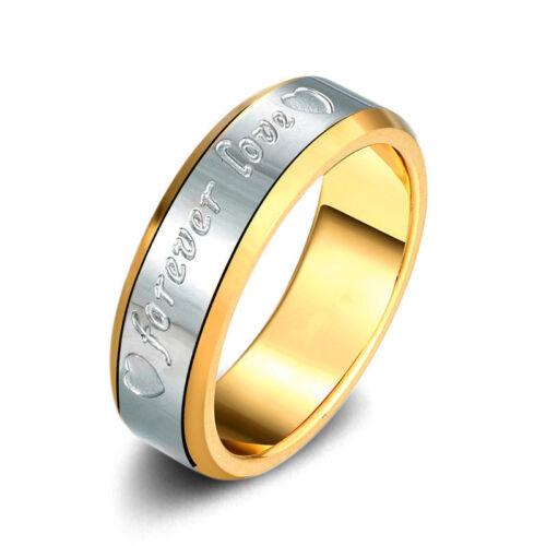 6 mm Placage Or Mariage Bande Pour Hommes Femmes Mariage Anniversaire Anneau Taille 6-10