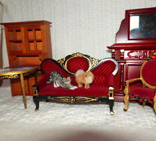 OOAK 1: 12 POMERANIAN DOG HANDMADE realistic SCULPTURE Dollhouse miniature IGMA