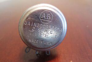 Allen Bradley JA1N200P255MA Type J 2.5-MEG 2.5M Ohms Potentiometer