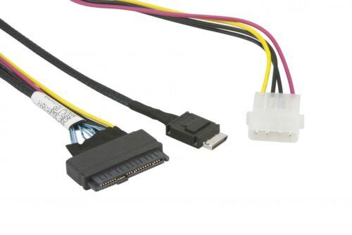 Supermicro CBL-SAST-0956 55cm OCuLink to PCIE SFF-8639 U.2 with Power Cable