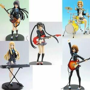 K-ON Azusa Yui Mio Ritsu Tugumi SQ Figure 5 Set Banpresto Box Band Anime NEW
