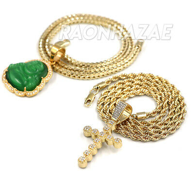 Iced out NBA Never Broke Again Hustle Pendant W//Cuban and Rope Chain Set