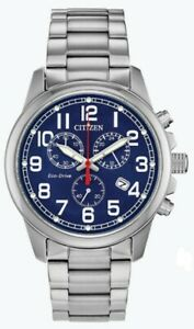 Citizen-Eco-Drive-Men-039-s-Chronograph-Blue-Dial-Date-Display-39mm-Watch-AT0200-56L